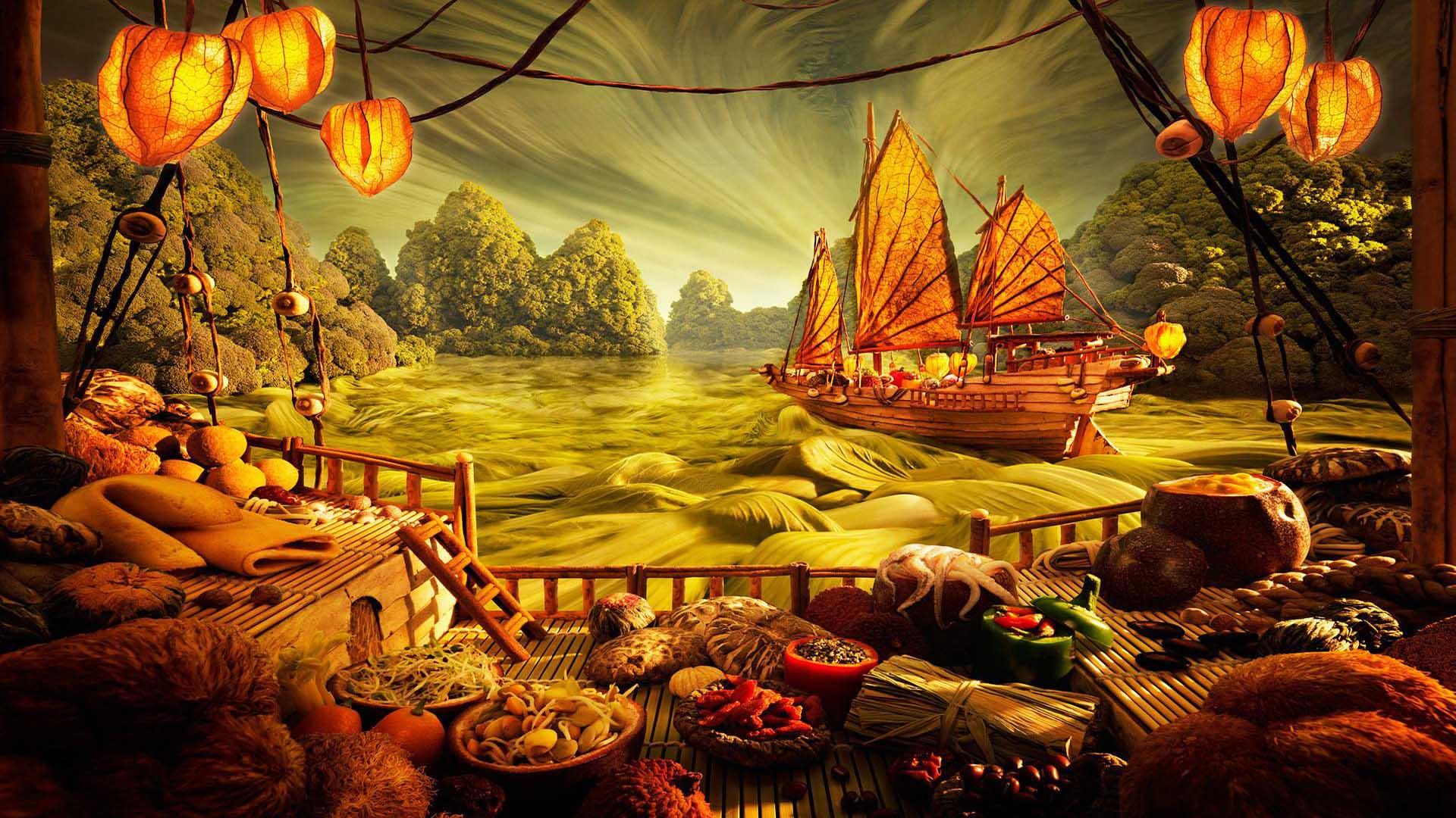 paesaggio olio wallpaper hd