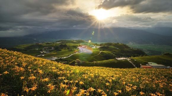 paesaggio pieno di sole